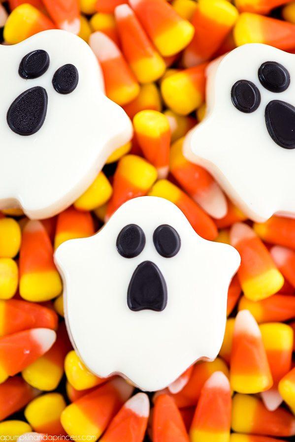 Halloween Ghost Cookies  Haunted House Pumpkin Diorama