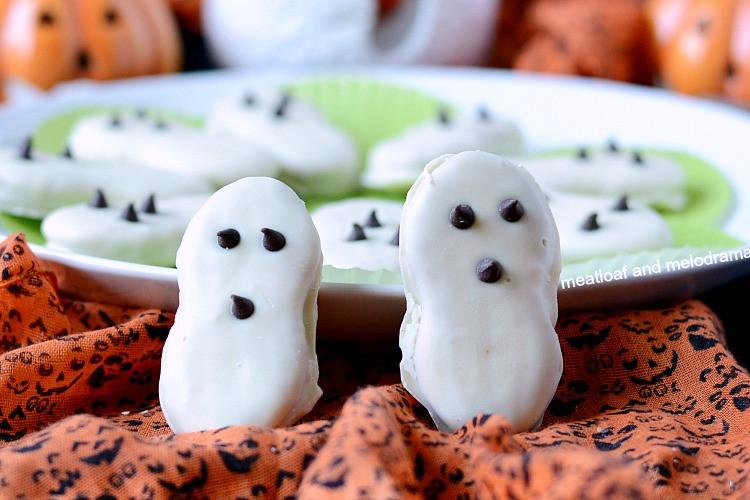 Halloween Ghost Cookies  Easy Halloween Ghost Cookies Meatloaf and Melodrama
