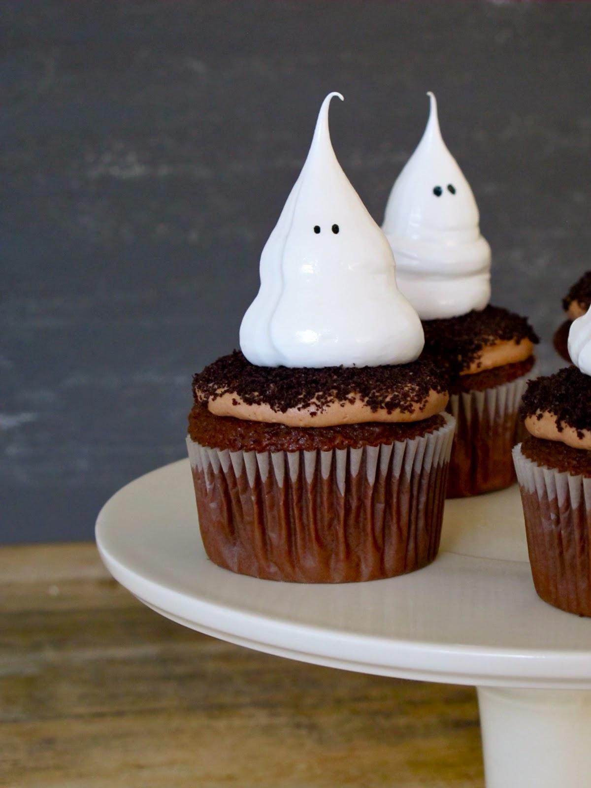 Halloween Ghost Cupcakes  Jenny Steffens Hobick Halloween Cupcakes