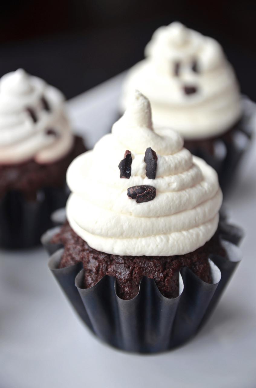 Halloween Ghost Cupcakes  Gluten Free & Vegan Chocolate Cupcakes Fablunch