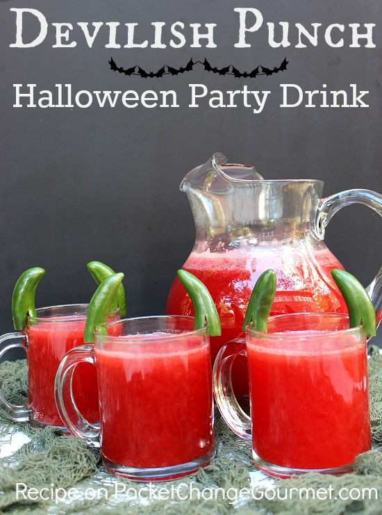 Halloween Non Alcoholic Drinks Recipes  Halloween Drink Devilish Punch Recipe