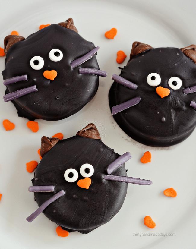 Halloween Oreo Cookies  Halloween Cat Oreo Cookies