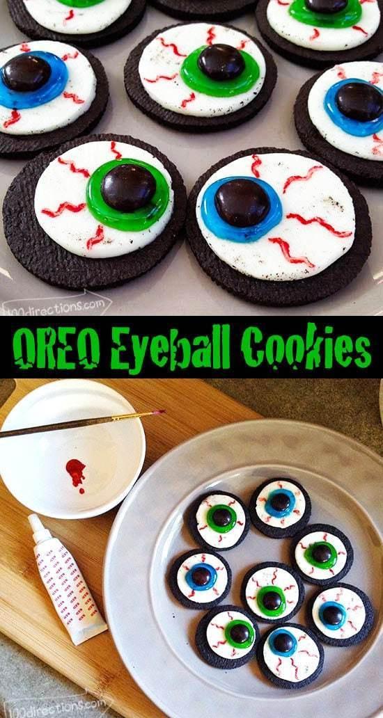 Halloween Oreo Cookies  OREO Cookie Eyeballs Halloween Treat DIY 100 Directions