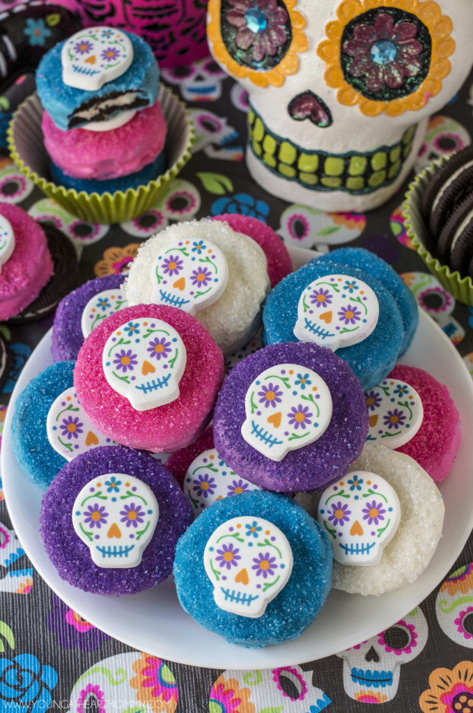 Halloween Oreo Cookies  Sugar Skull Chocolate Covered Oreo Cookies Young At