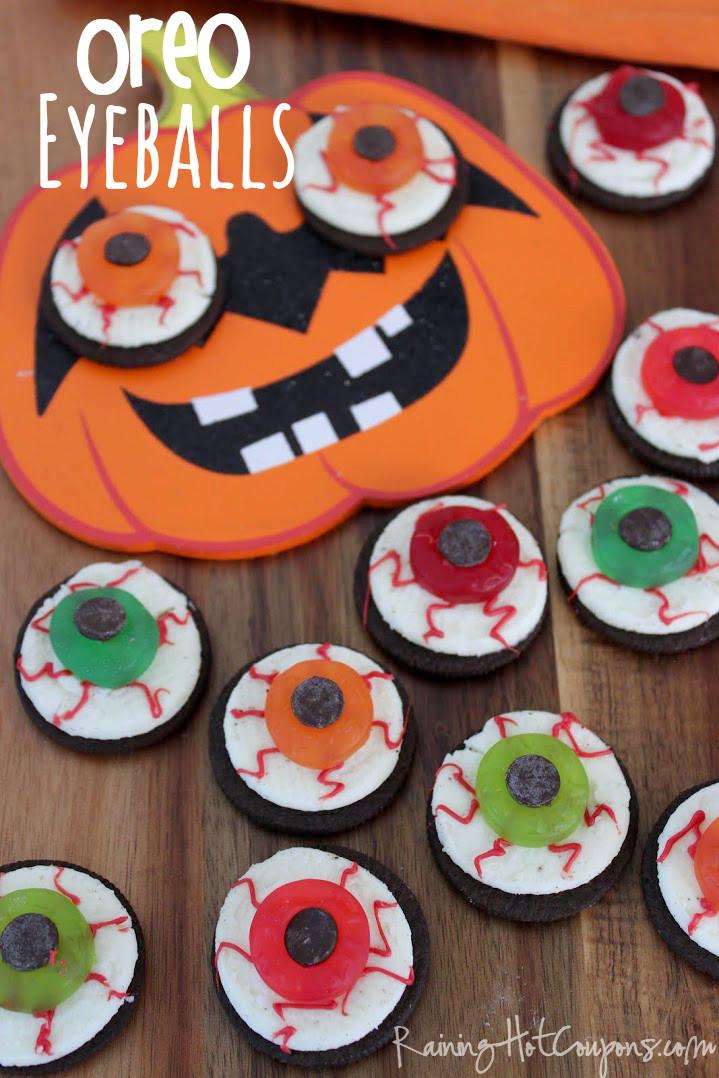 Halloween Party Cookies  Oreo Eyeballs Halloween Recipe