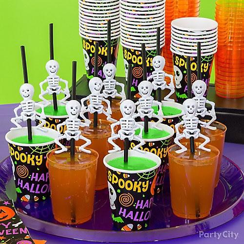 Halloween Party Drinks For Kids  Kid Friendly Skeleton Straws Drink Idea Kid Friendly