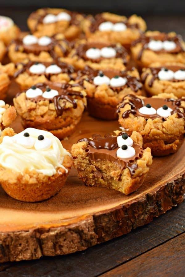 Halloween Peanut Butter Cookies  Halloween Peanut Butter Cookie Cups Shugary Sweets