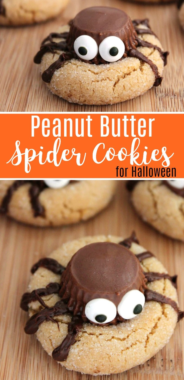 Halloween Peanut Butter Cookies  Halloween Peanut Butter Spider Cookies Recipe