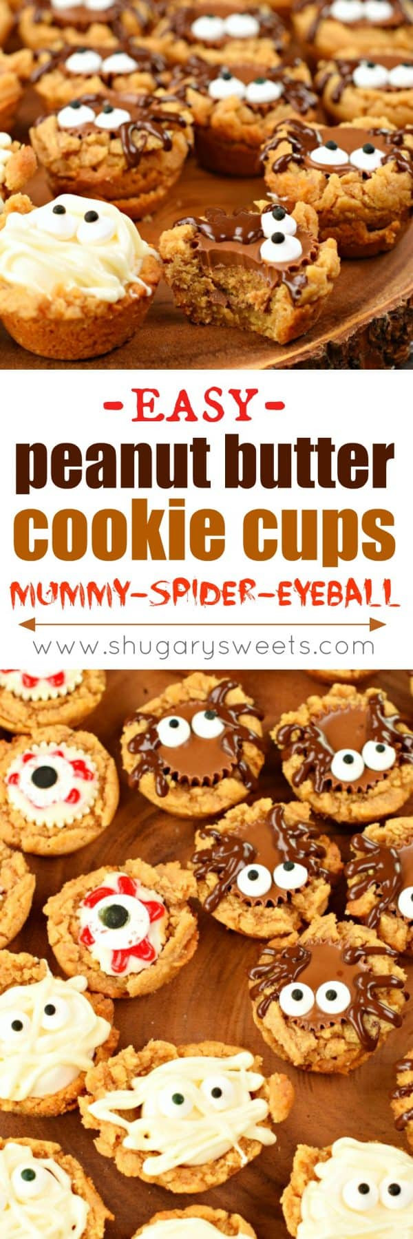 Halloween Peanut Butter Cookies  Halloween Peanut Butter Cookie Cups Shugary Sweets