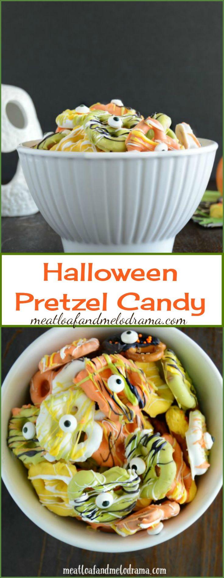 Halloween Pretzels Treats  Best 25 Halloween pretzels ideas on Pinterest