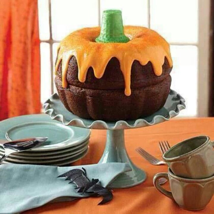 Halloween Pumkin Cakes  Mini Bundt Cake Pumpkins