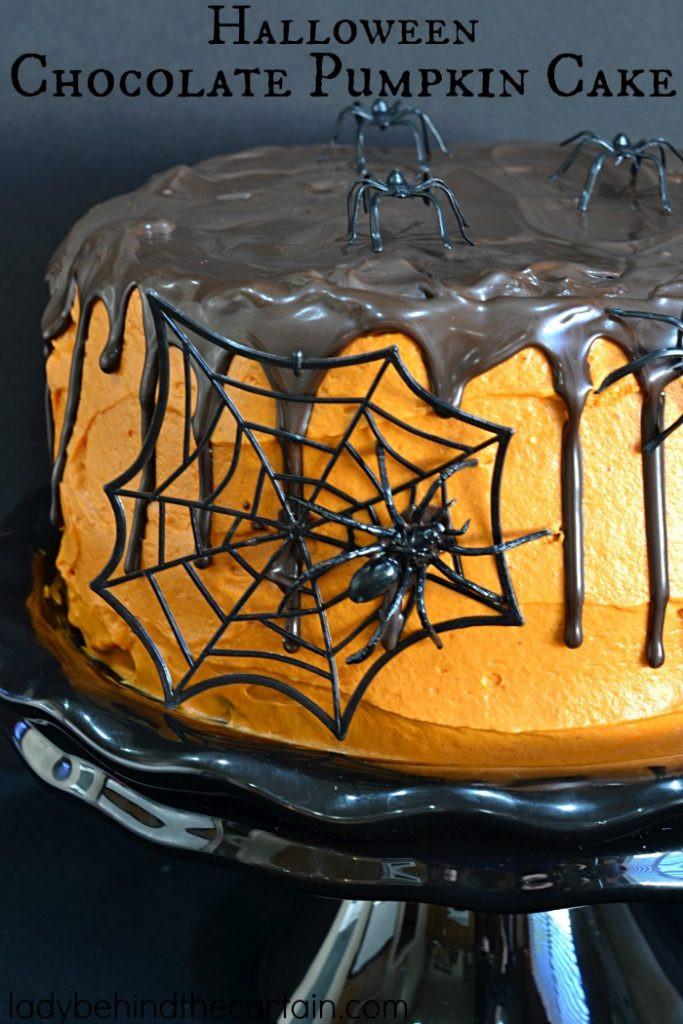 Halloween Pumkin Cakes  Halloween Chocolate Pumpkin Cake