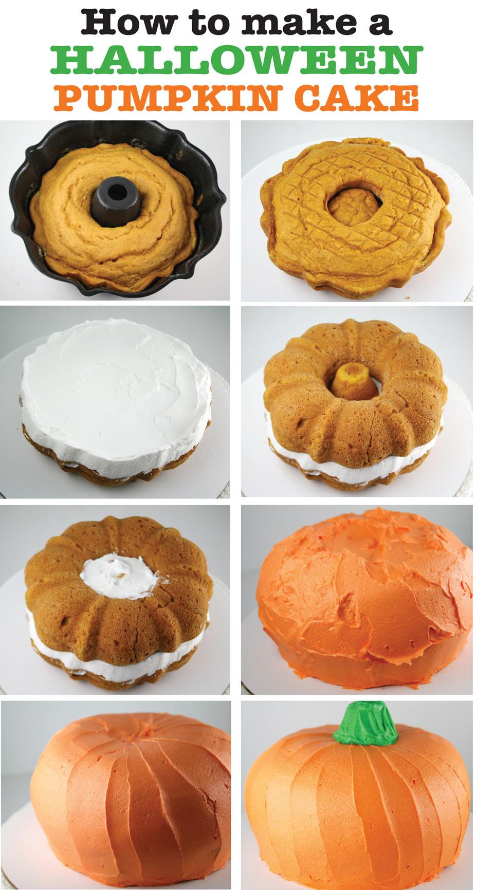 Halloween Pumkin Cakes  Halloween Pumpkin Cake Mom Loves Baking