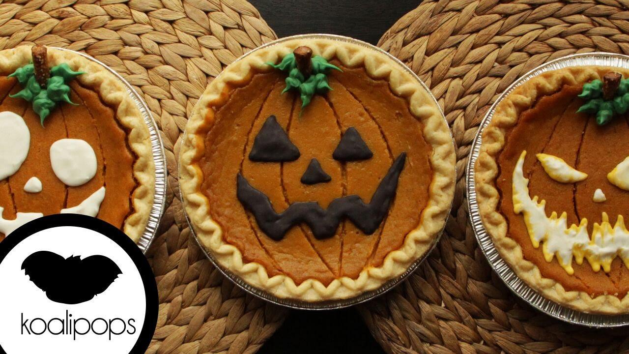 Halloween Pumpkin Pie  How to Decorate Store Bought Pumpkin Pies for Halloween