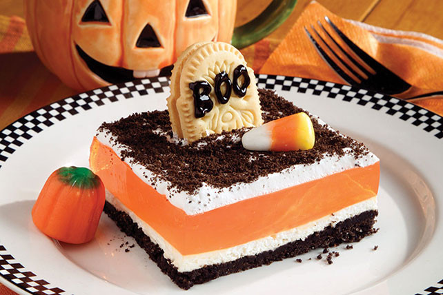 Halloween Recipes Desserts  Graveyard Gelatin Dessert Kraft Recipes