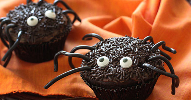 Halloween Spider Cupcakes  10 Delicious Kid Friendly Halloween Desserts Recipes