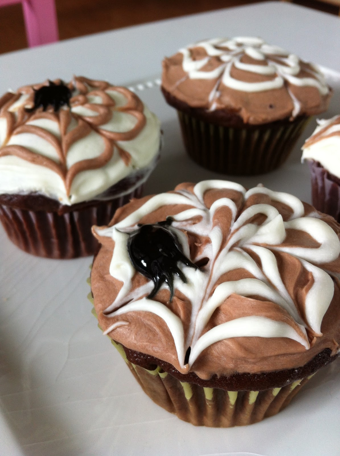 Halloween Spider Cupcakes  The Art of fort Baking Halloween Spider Web Cupcakes