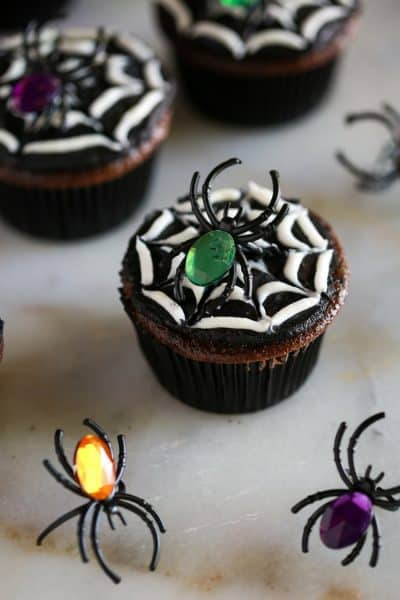 Halloween Spider Cupcakes  Homemade Family Friendly Recipes Meal Plans and More