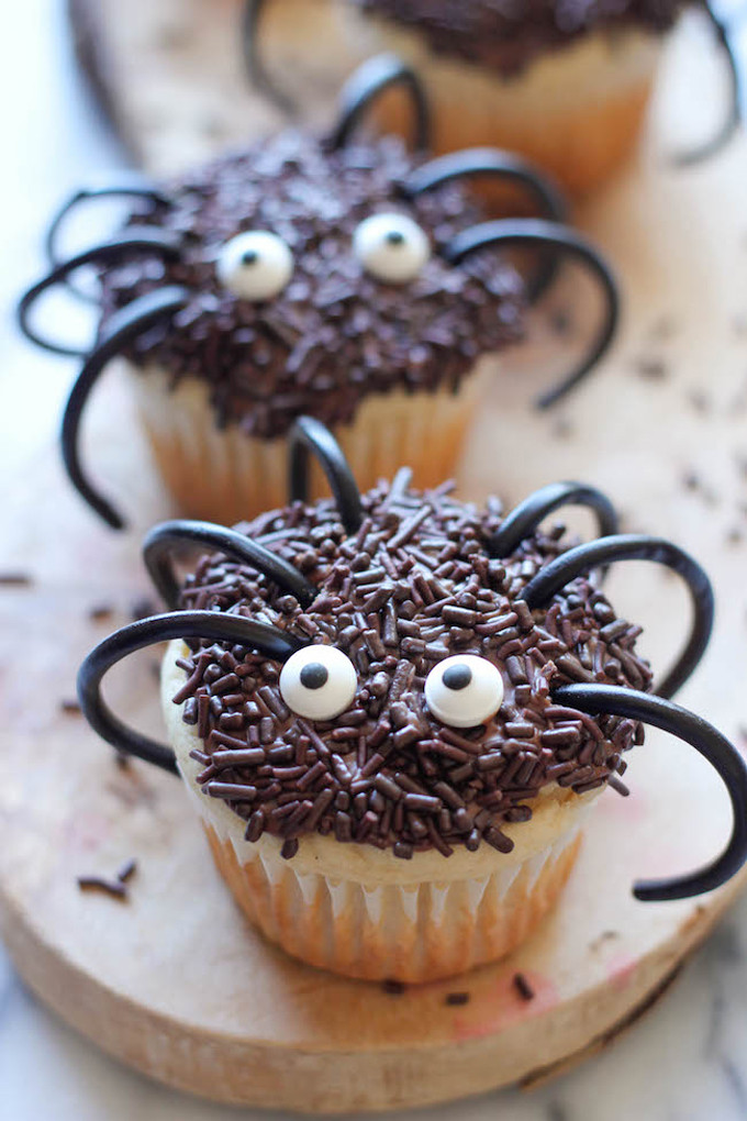 Halloween Spider Cupcakes  20 Adorably Spooky Halloween Treats