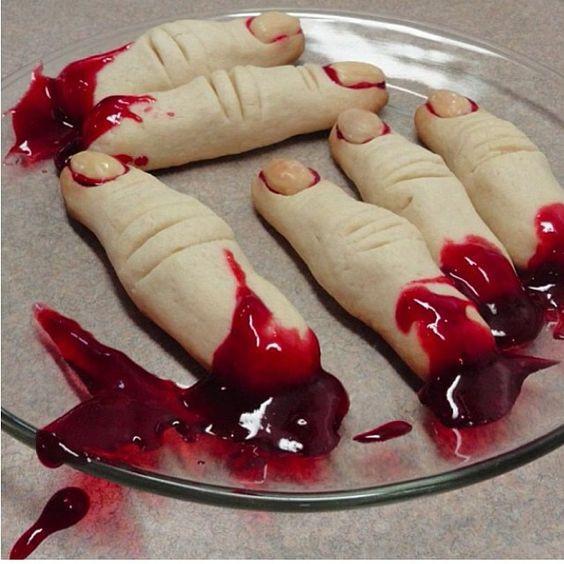 Halloween Sugar Cookies Fingers  Pinterest • The world's catalog of ideas