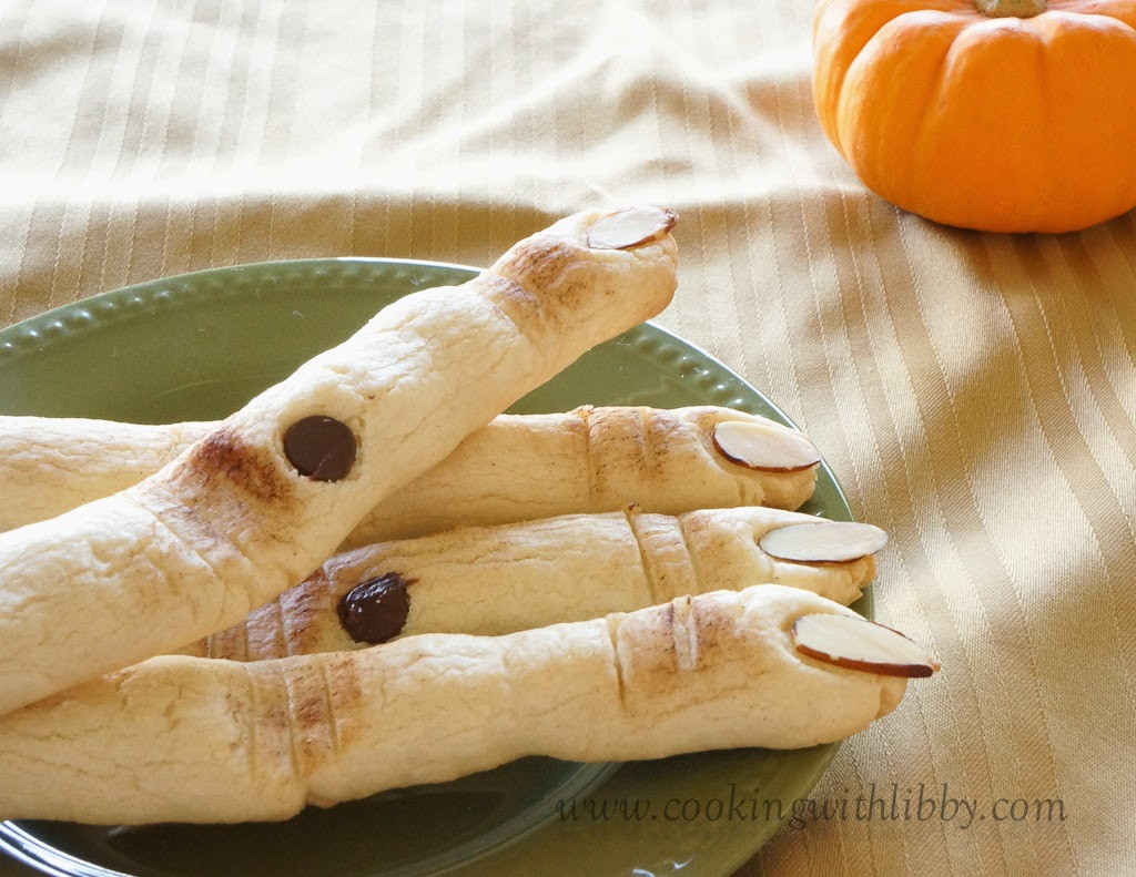 Halloween Sugar Cookies Fingers  Cooking With Libby Sugar Cookie Witch Fingers Halloween