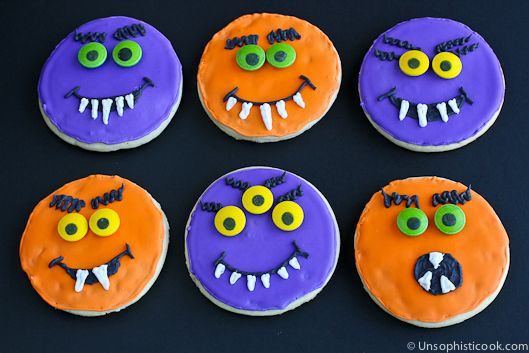 Halloween Sugar Cookies Walmart  Eye popping sugar cookies using Wilton Spooky Candy