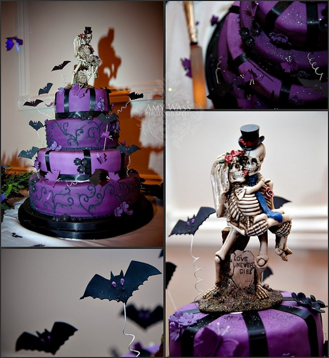 Halloween Themed Wedding Cakes  Wedding Trends Halloween and Fall Wedding Themes