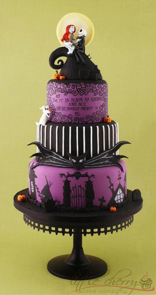 Halloween Wedding Cakes Ideas  40 Original Halloween Wedding Cakes Weddingomania