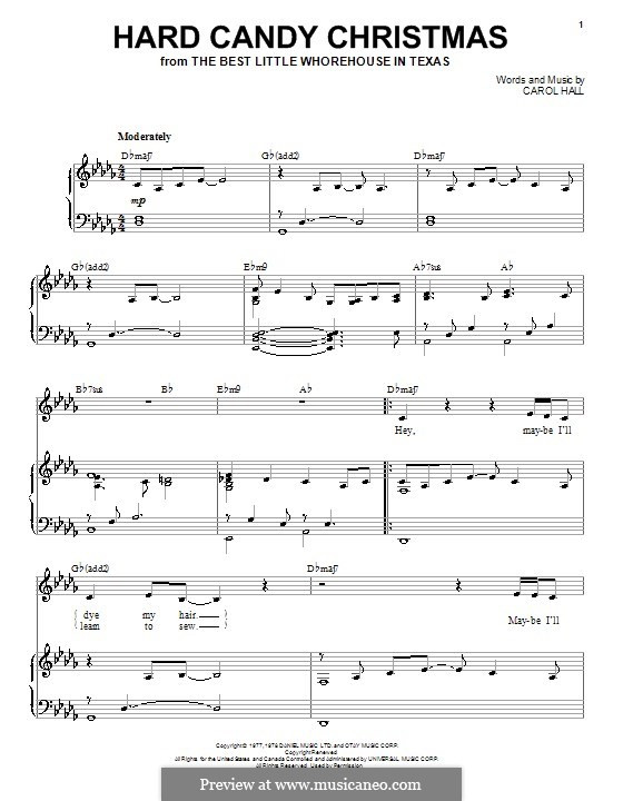 Hard Candy Christmas Chords  Hard Candy Christmas by C Hall sheet music on MusicaNeo