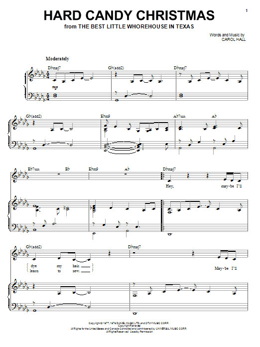 Hard Candy Christmas Song  Hard Candy Christmas sheet music by Dolly Parton Piano