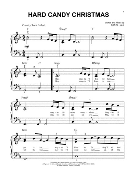 Hard Candy Christmas Song  Download Hard Candy Christmas Sheet Music By Dolly Parton
