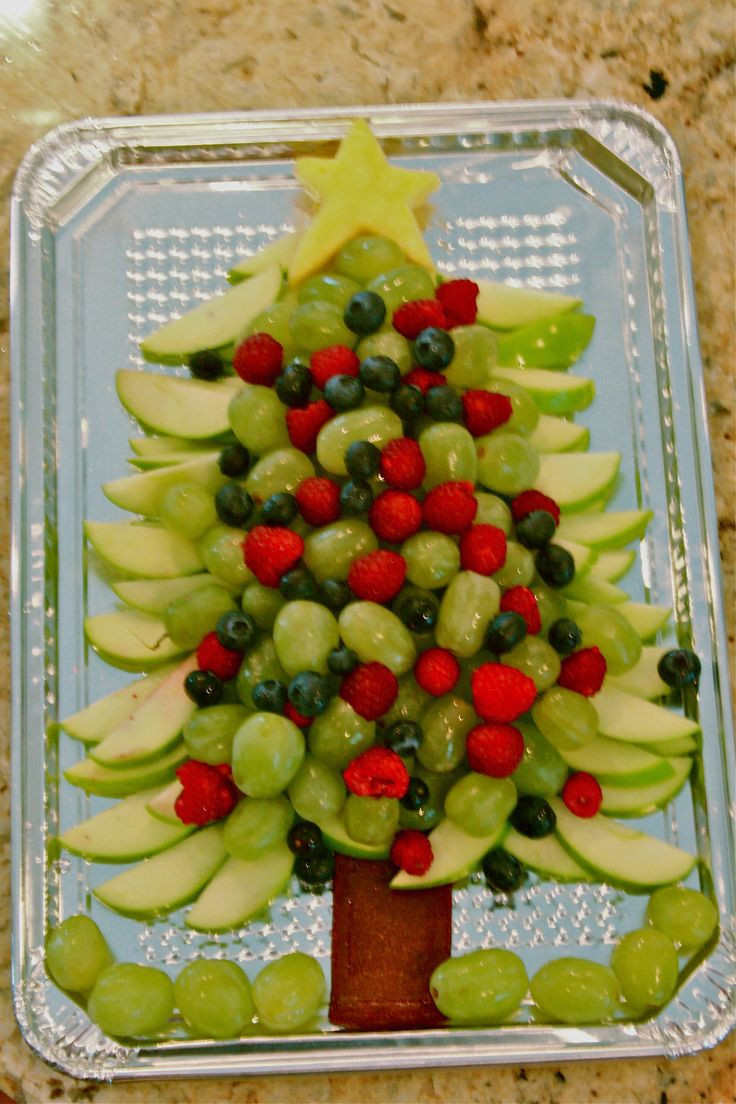 Healthy Christmas Appetizers For Parties  Healthy Christmas Tree appetizer fruit