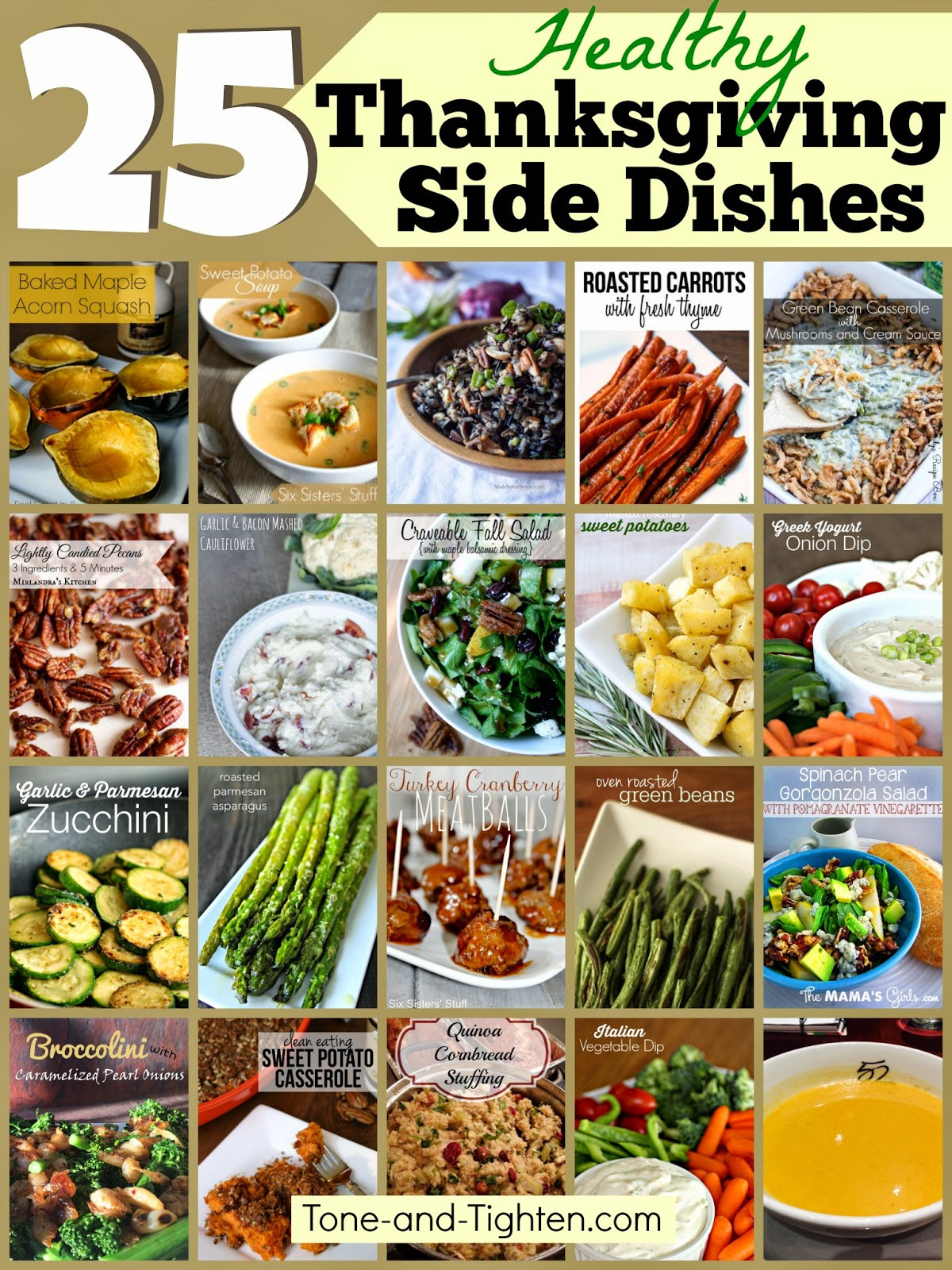 Healthy Side Dishes For Thanksgiving  25 Healthy Thanksgiving Side Dishes – Healthier options