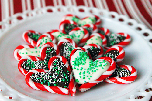 Heart Candy Christmas  Candy Cane Christmas Hearts DIY Christmas Decorations