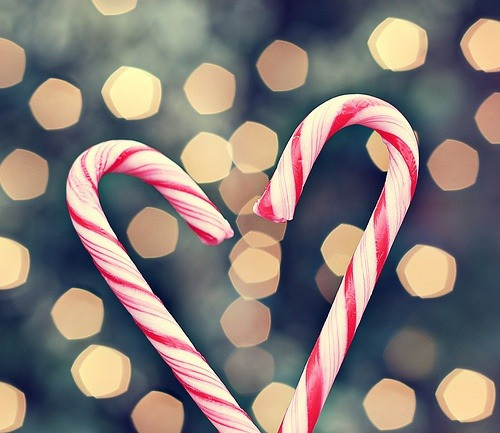Heart Candy Christmas  candy cane heart