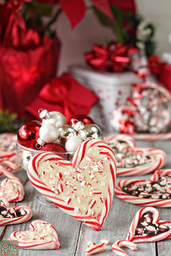 Heart Candy Christmas  Peppermint Bark Candy Cane Hearts