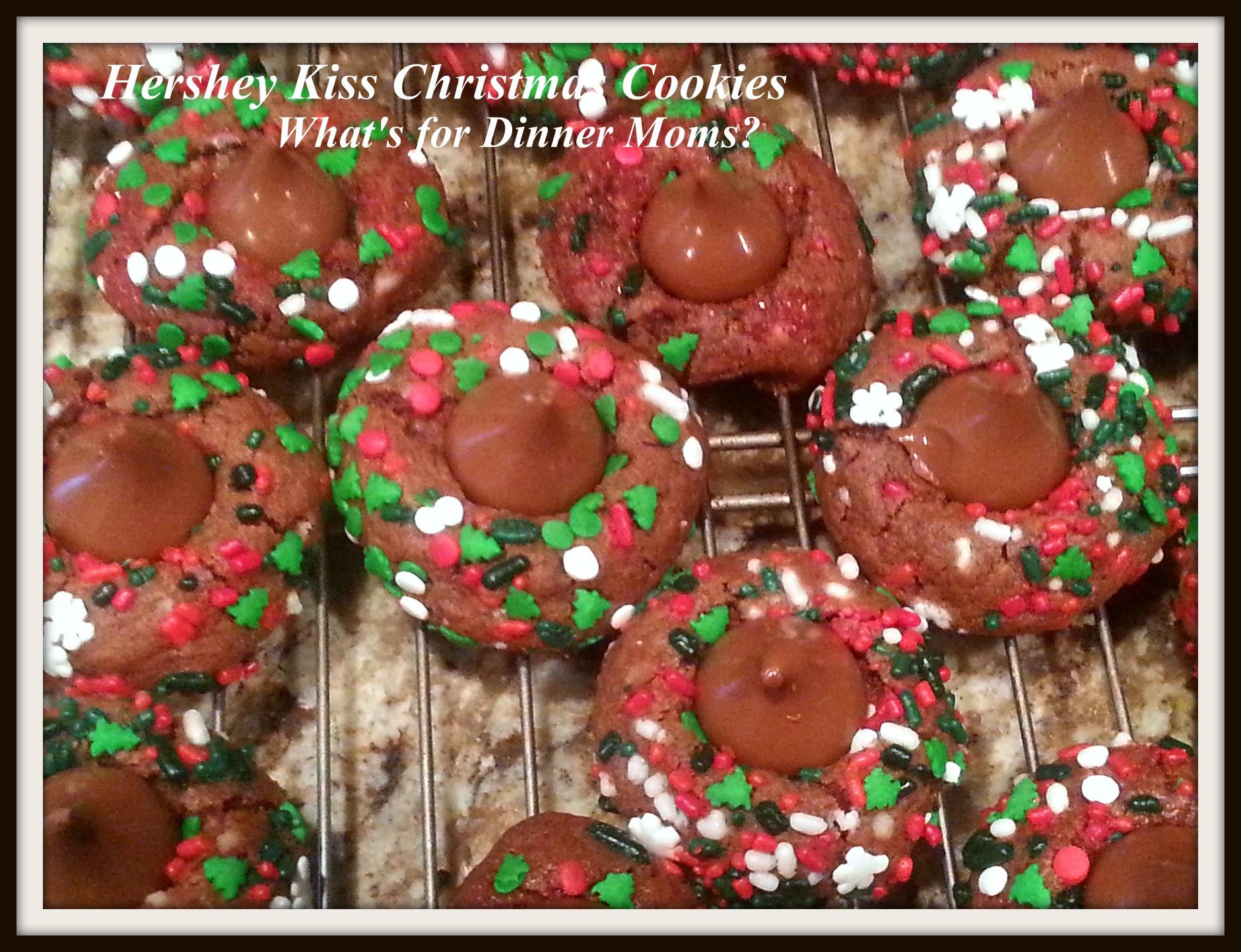 Hershey Kisses Christmas Cookies  Hershey Kiss Christmas Cookies – What s for Dinner Moms