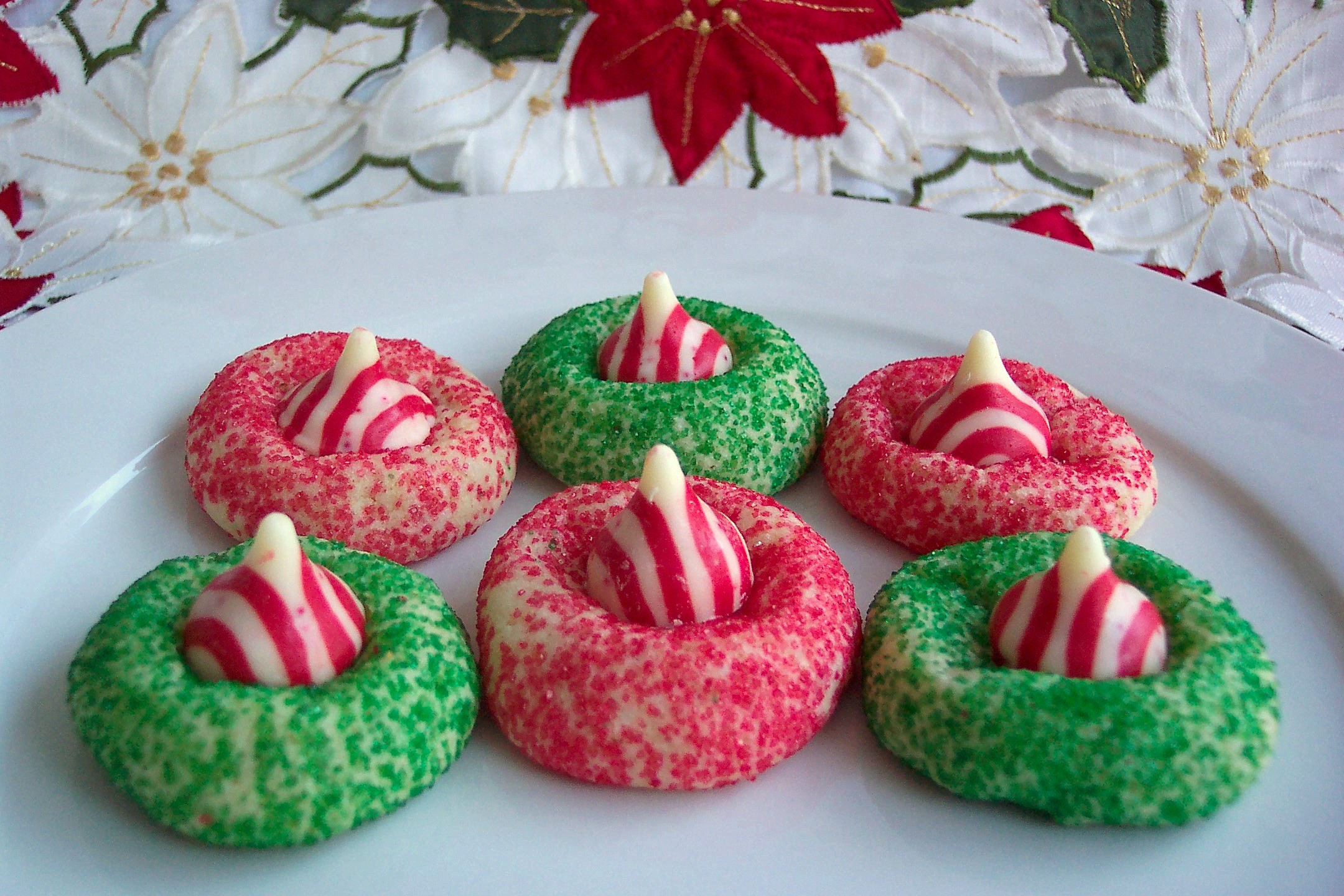 Hershey Kisses Christmas Cookies  Candy Cane Kiss Cookies Recipe — Dishmaps