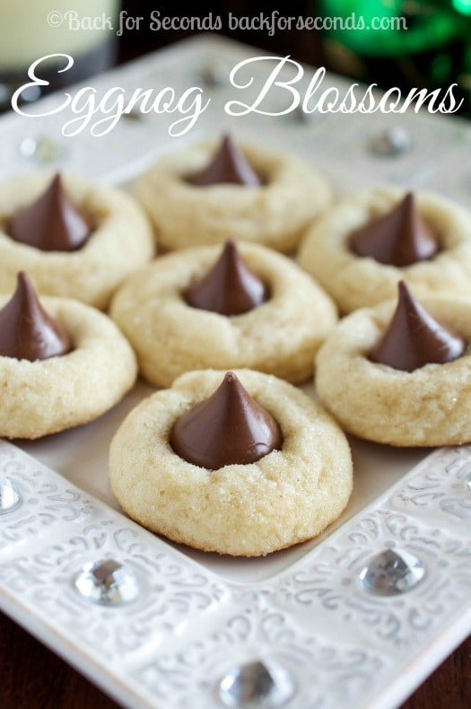 Hershey Kisses Christmas Cookies  Eggnog Blossoms Back for Seconds