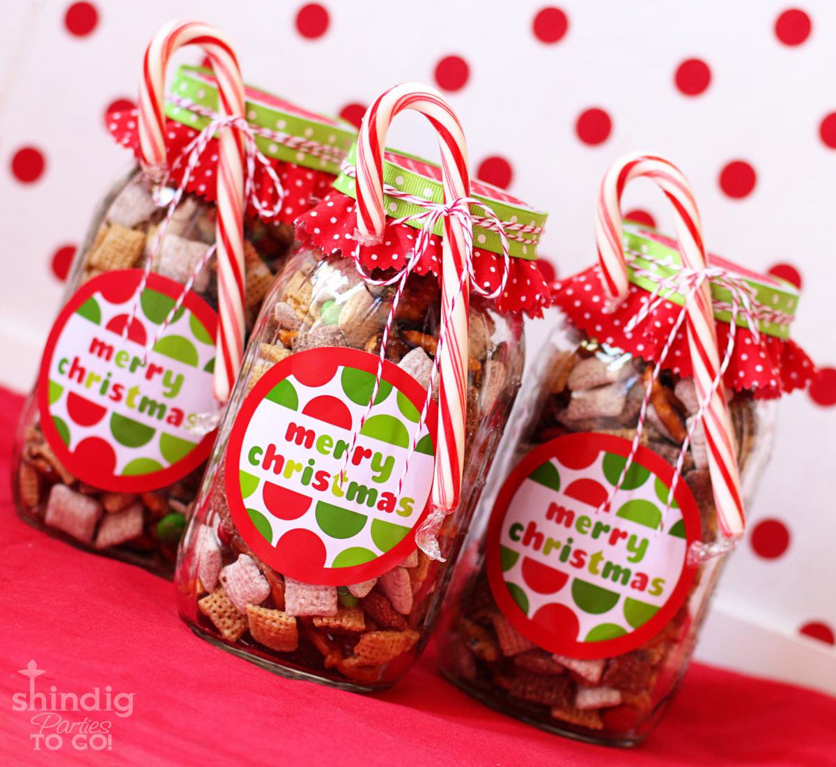 Homemade Christmas Candy Gifts  How To Make Handmade Chex Mix Holiday Gifts & Bonus Free