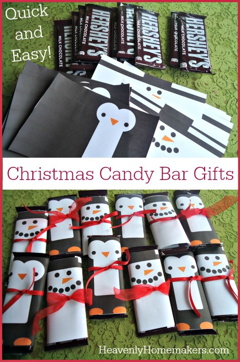 Homemade Christmas Candy Gifts  Quick and Easy Christmas Candy Bar Gifts Homemade Gifts