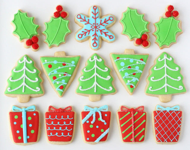 Iced Christmas Cookies  Decorated Christmas Cookies – Glorious Treats