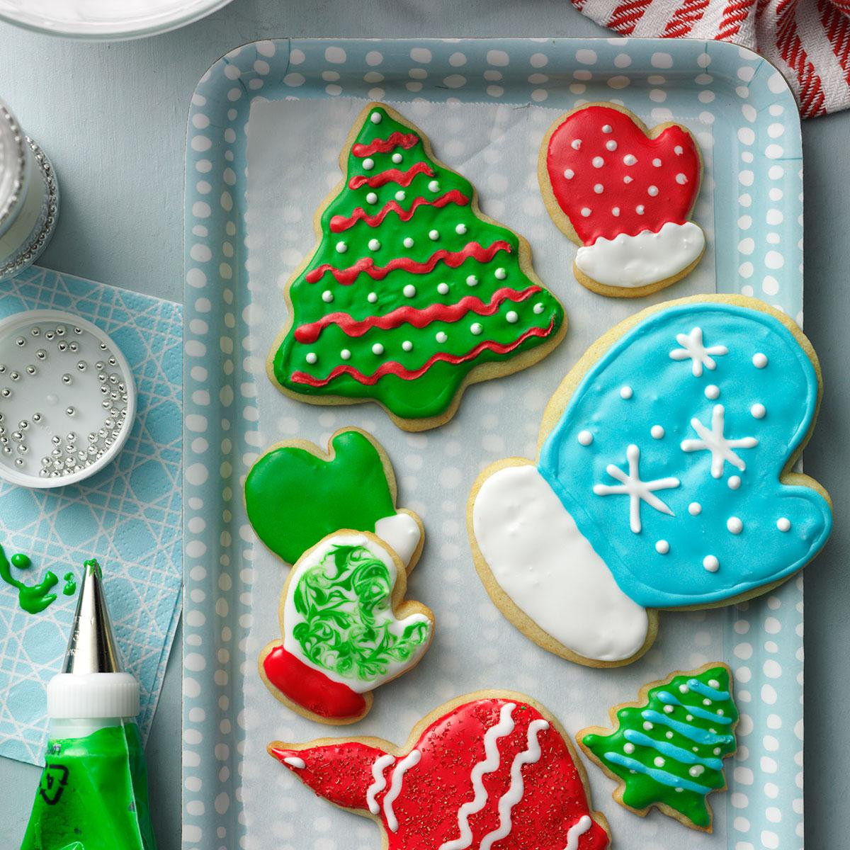 Iced Christmas Cookies  Holiday Cutout Cookies Recipe