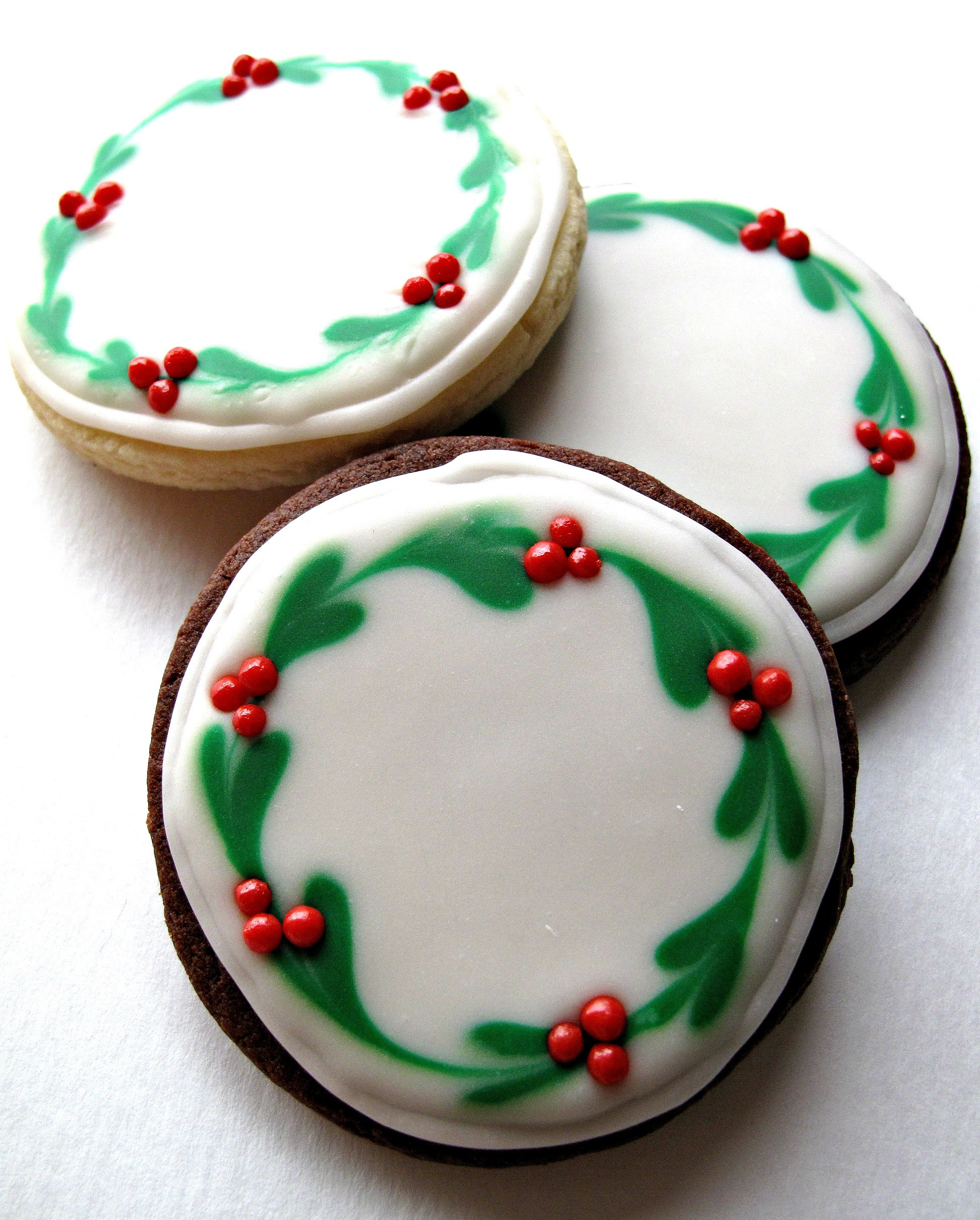 Iced Christmas Cookies  Chocolate Covered Oreos and Iced Christmas Sugar Cookies