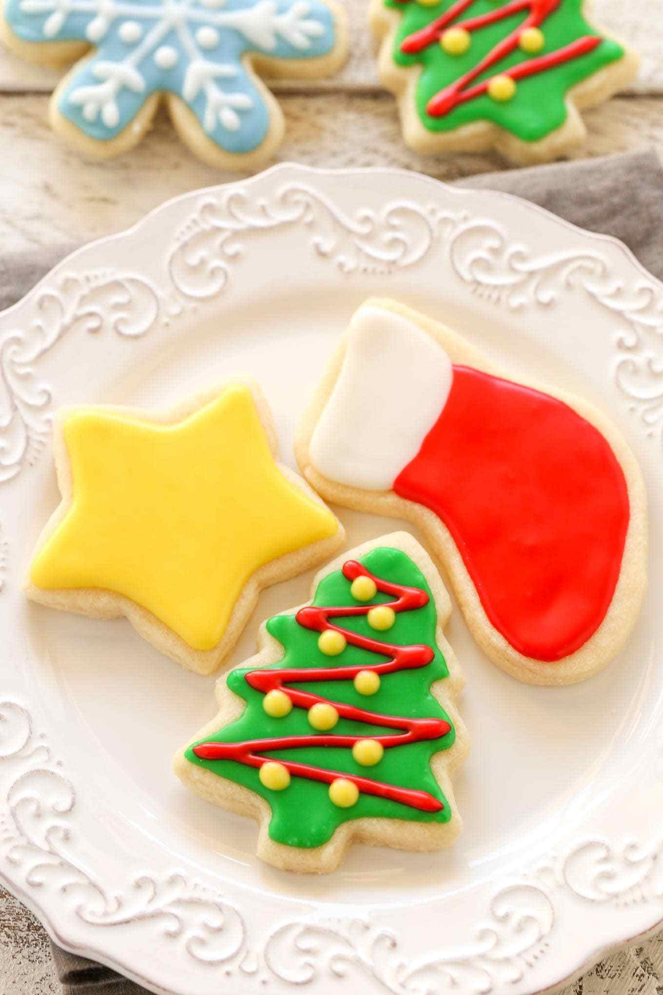 Icing For Christmas Cookies  Soft Christmas Cut Out Sugar Cookies Live Well Bake ten