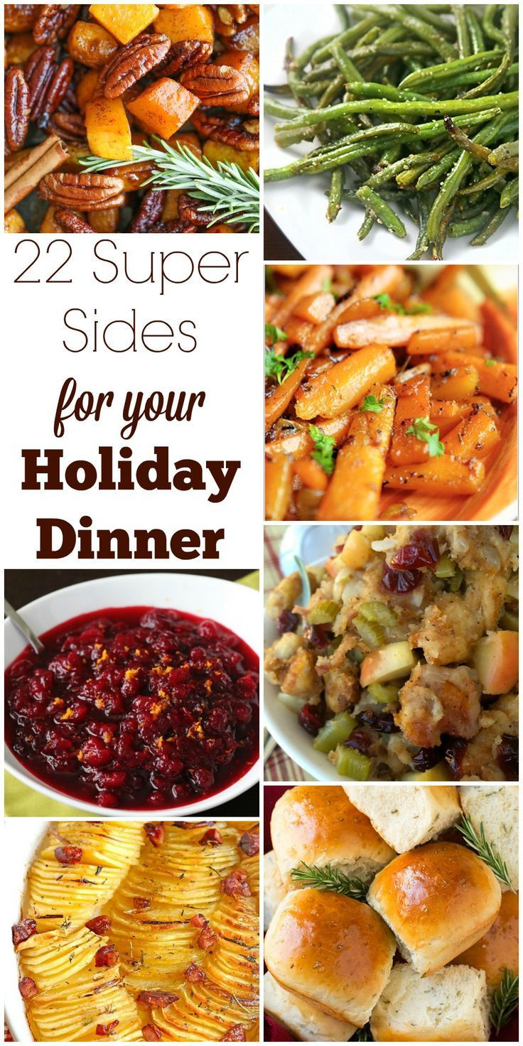 Ideas For Thanksgiving Dinner Side Dishes  17 Best ideas about Christmas Dinner Menu on Pinterest