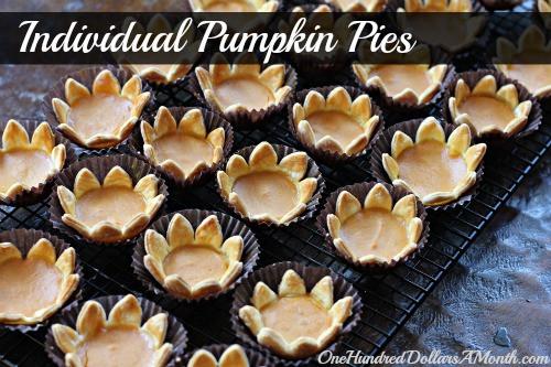 Individual Thanksgiving Desserts  Thanksgiving Dessert Ideas Individual Pumpkin Pies e