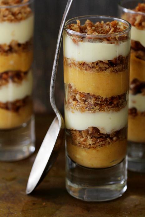 Individual Thanksgiving Desserts  Pumpkin Praline Trifle