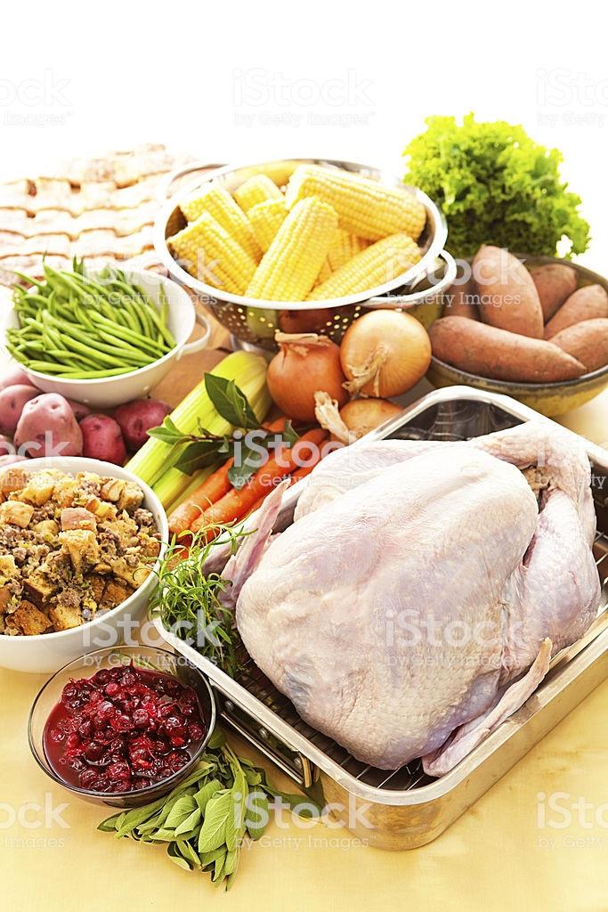Ingredients For Thanksgiving Turkey  Turkey Raw Ingre nts For Thanksgiving Dinner Preparation