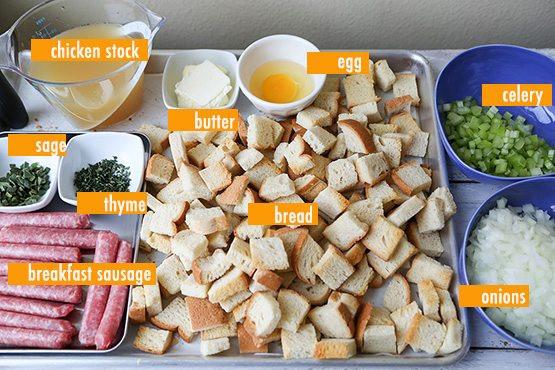 Ingredients For Thanksgiving Turkey  turkey stuffing ingre nts